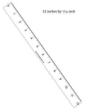 printable rulers with quarter inch 12 inch by 1 32 inch ruler printable ruler
