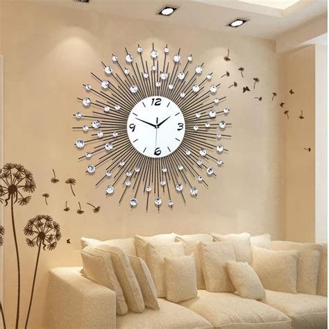 Living Room Clocks by Home Decoration Wall Clock Modern Living Room Wall Clocks