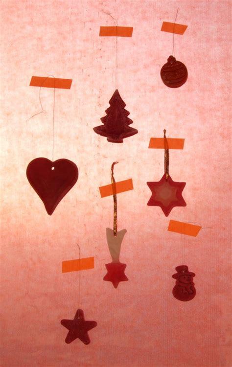 weihnachtsbasteln weihnachtsdeko aus wachs