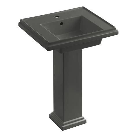 single hole pedestal kohler k 2844 1 0 tresham 24 inch pedestal bathroom sink