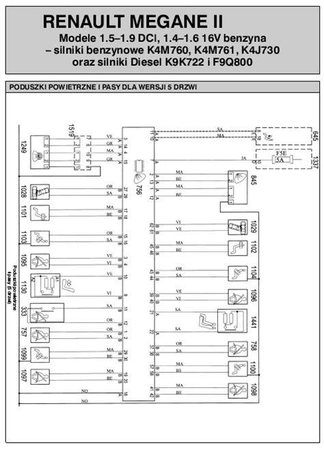 schemat elektryczny renault megane ii autoelektro nr 127