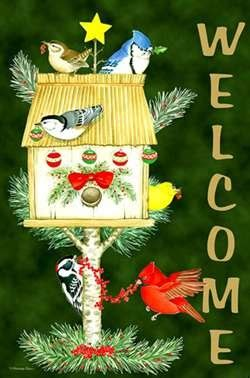 christmas welcome birds 49 best flags images on burlap garden flags burlap yard flag and yard flags