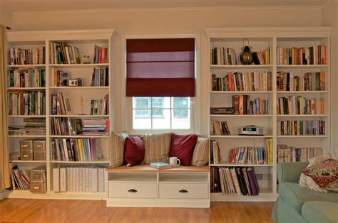 built in bookshelves with window seat for 350