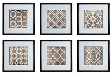 Rectangular Kitchen Design sterling industries symmetry blueprint 17x17 framed wall
