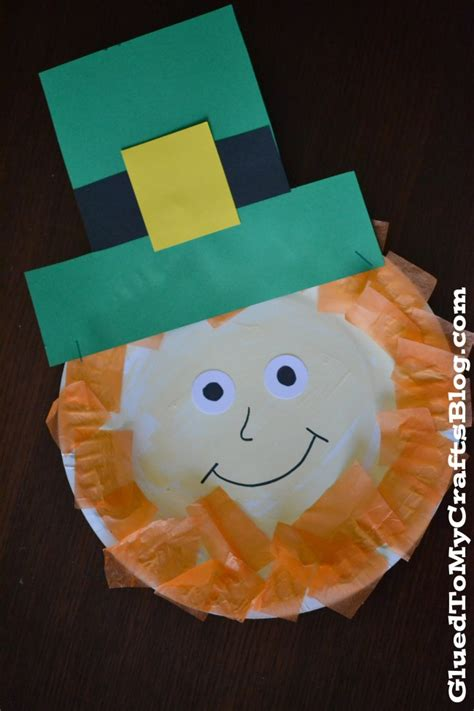Leprechaun Paper Craft - paper plate leprechaun munchkins and