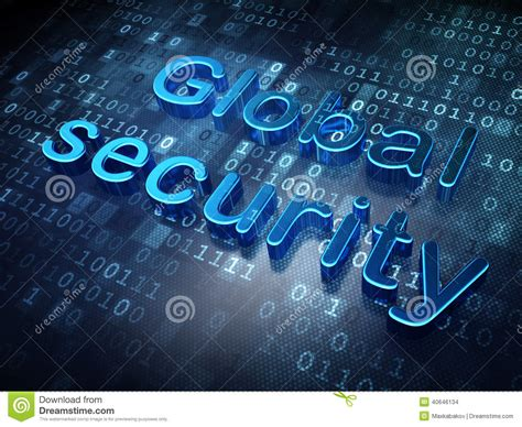 Sell Hack by Blue Global Security On Digital Background Stock