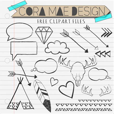 doodlebug clipart items similar to doodles clipart antlers arrows hearts