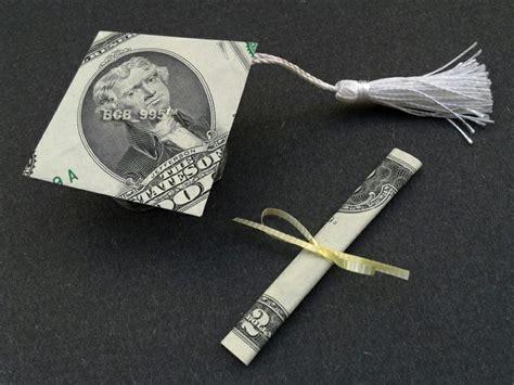Origami Graduation Cap - money origami graduation cap diploma grad gift