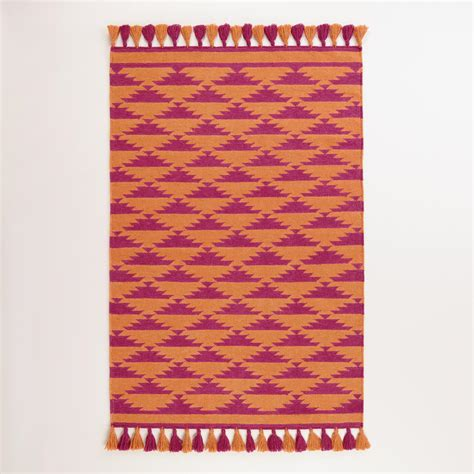 orange pink rug 4 x6 pink and orange kaia flatweave wool area rug world market