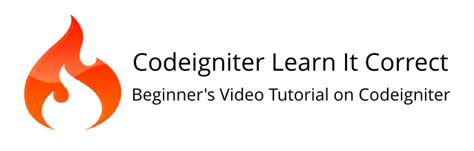 tutorial codeigniter model codeigniter video tutorial for beginners