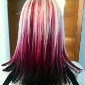 my blonde hair with dark red underneath hair pinterest red and blonde hair color page 5 of 5 my new hair