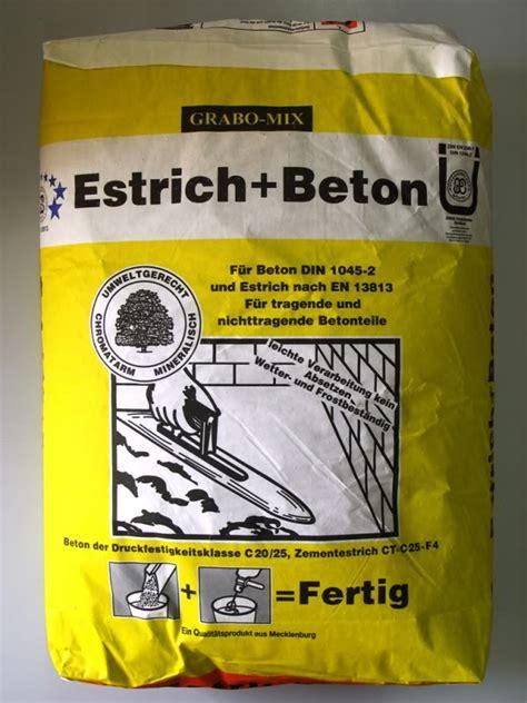 Zementestrich Preise Sack by Estrichbeton Estrich Beton Betonm 246 Rtel 40 Kg Sack