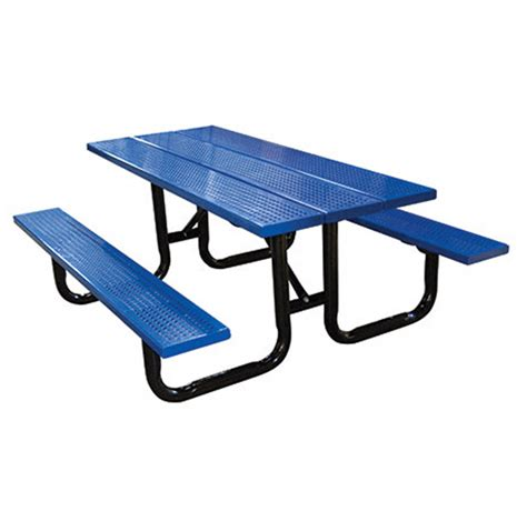 steel picnic table perforated steel plank picnic table terracast productsterracast products