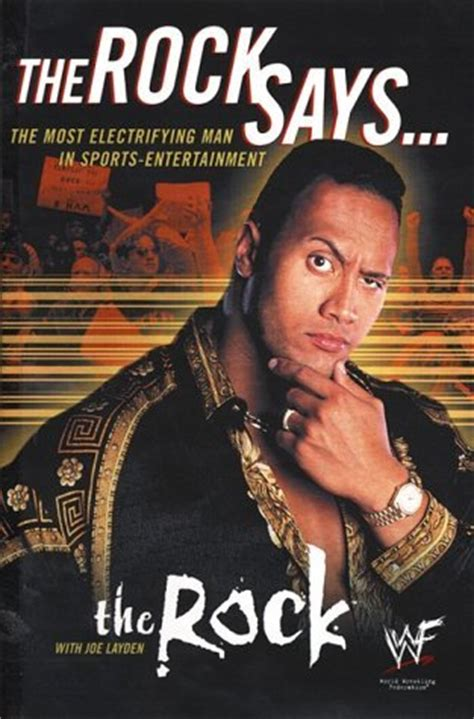 dwayne johnson biography amazon the rock says the most electrifying man in sports