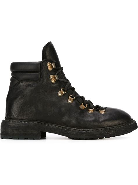 black hiking boots for guidi hiking boots in black for lyst