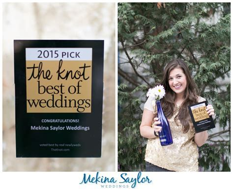 WINNER : 2015 The Knot Best Of Weddings   Mekina Saylor