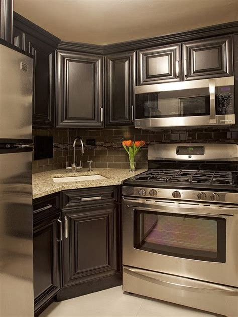 modern small kitchen design ideas  tiny spaces kitchen designs pinterest basement kitchen black kitchen cabinets  contemporary