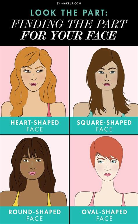 haircut based on your shape look the part finding the right part for your face the