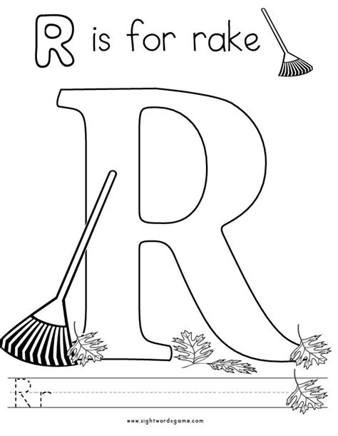 Alphabet Coloring Pages Coloring Pages For The Letter R Preschool