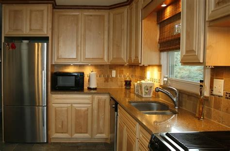 remodeled kitchen cabinets kitchen silver refrigerator color closed wooden cabinets