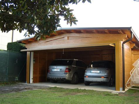 box auto in legno box auto doppio legno verona garage auto legno box