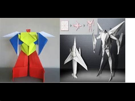 How To Make A Paper Robot - origami robot power ranger origami robot transformer