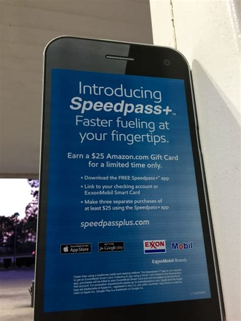 Where Can I Use Exxon Mobil Gift Card - earn a 25 amazon gift card just by using the exxon mobil speedpass app