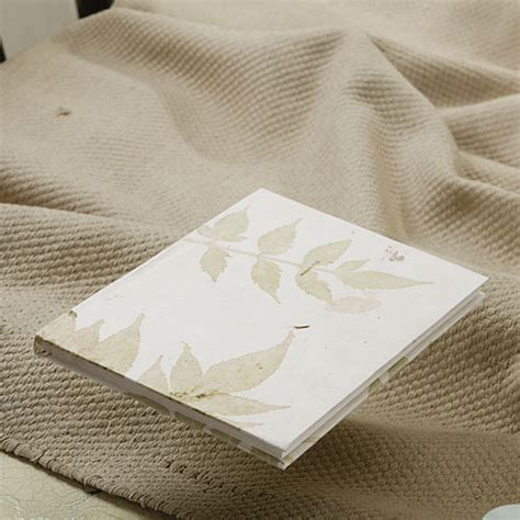 Handmade Leaf Paper - leaf design recycled paper handmade office diary 24