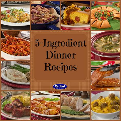 5 ingredientes 5 ingredients 5 ingredient recipes 39 simple 5 ingredient dinners mrfood com