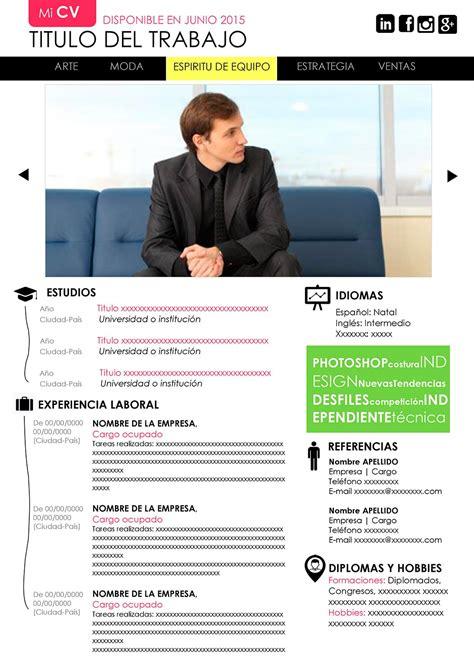 Plantilla De Curriculum Vitae Moderno Gratis descargar plantilla curriculum vitae espa 241 ol gratis