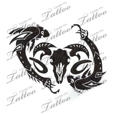 aries and pisces tattoo designs marketplace pisces meets aries 6321