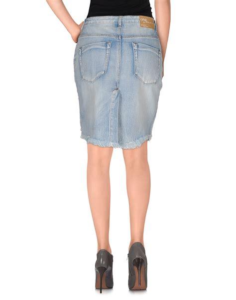 one teaspoon denim skirt in blue lyst