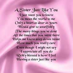 Sister poems on pinterest sister quotes love my sister and poems