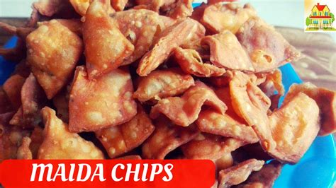 hot chips recipe maida chips recipe in telugu chips for snacks hot
