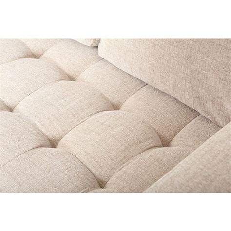 linen section abbyson living macalea linen sectional in cream ci