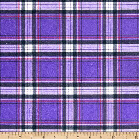 purple tartan upholstery fabric minky new plaid purple discount designer fabric fabric com