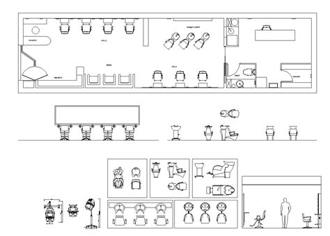 sle templates for autocad hair salon blocks plans free cad blocks drawings