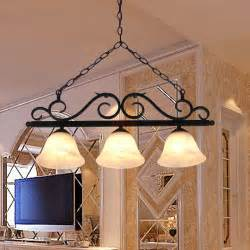 Wrought Iron Dining Room Light Fixtures by