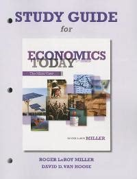 economics today 17th edition study guide for economics today 17th edition textbook