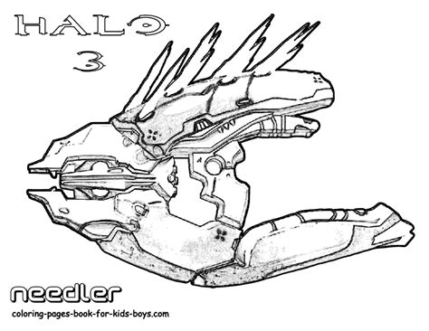 Halo 5 Coloring Pages by Classic Halo 3 Coloring Needler Weapon Halo 5 4 3
