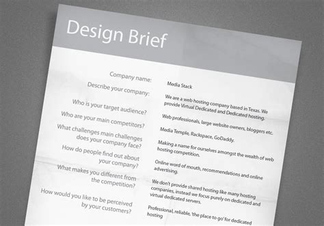 design brief template a guide to creating professional quality logo designs