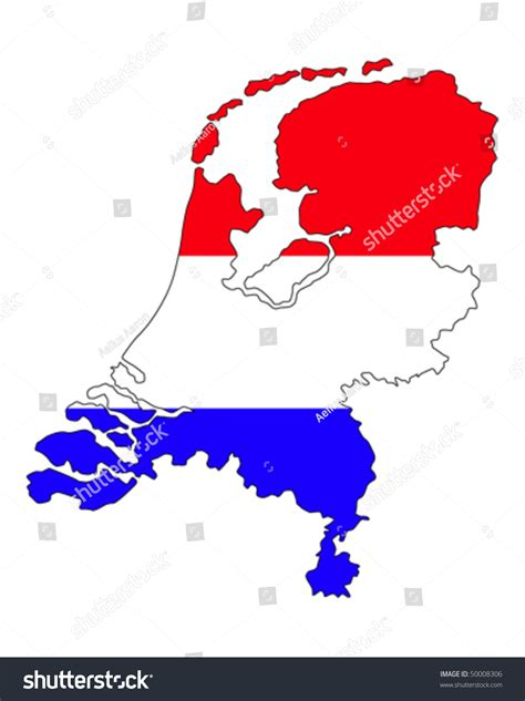 netherlands borders map image gallery country flag