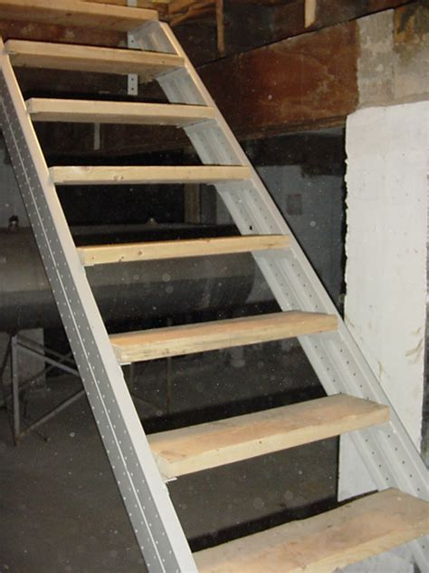 building basement stairs basement stair stringers by fast stairs