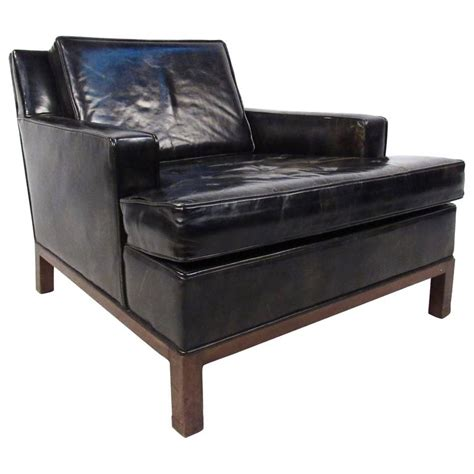 modern leather club chair mid century modern style leather club chair by harvey