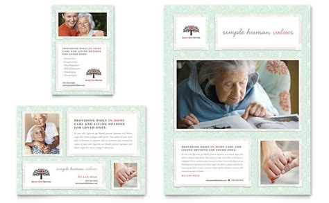 senior ad template senior care services flyer ad template design