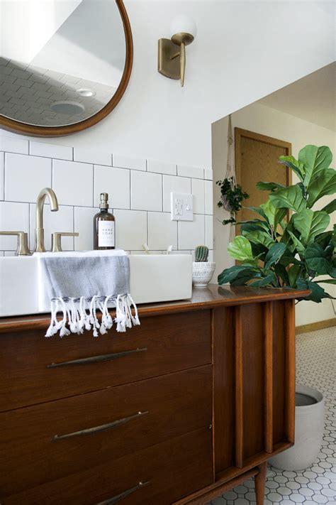 Modern Vintage Bathroom by Modern Vintage Bathroom Reveal Brepurposed