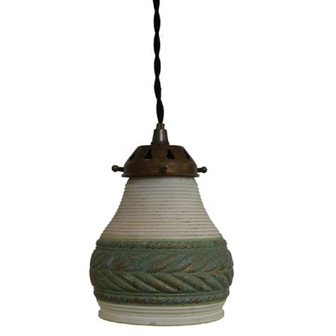 Ceramic Pendant Lights Small Traditional Ceramic Ceiling Pendant In With Green Border
