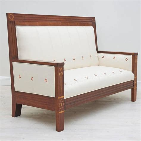 1910 Furniture Styles by German Arts And Crafts Loveseat Upholstered In Period