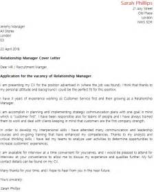 Employee Relations Manager Cover Letter by Relationship Manager Cover Letter Exle Icover Org Uk