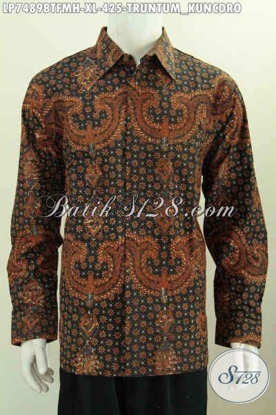 Kemeja Batik Mewah kemeja batik lengan panjang mewah motif truntum kuncoro